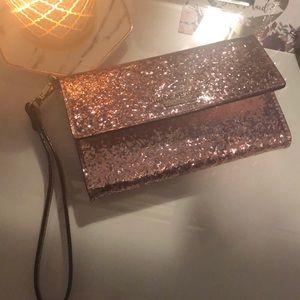 kate spade Bags - Kate Spade Rose Gold Sequin Wristlet